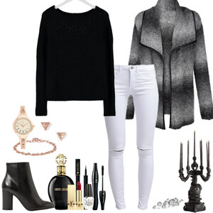 Outfit classic black and white von Natalie