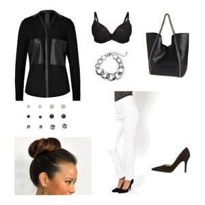 Outfit Elegant in Schwarz-Weiß von Jenny