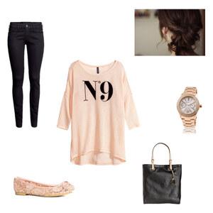 Outfit Rose-Schwarz von Jessi