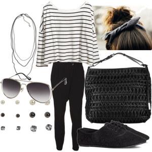 Outfit schwarz/weiß :) von Nisa