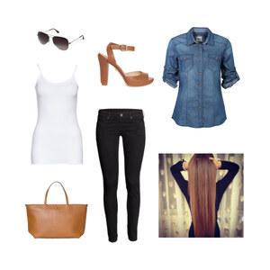 Outfit BlauBeige-Schwarz von Jessi