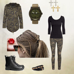 Outfit camoflage in love von Lilly_x8x8