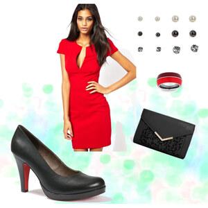 Outfit Schlichte Eleganz in rot von xy2