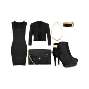 Outfit Black golden look von Blerta Al Albania