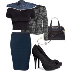 Outfit Dark Blue Black look von Blerta Al Albania