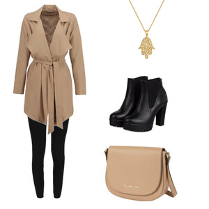 Outfit camel meets gold von BB Foxy