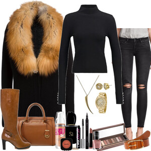 Outfit beautiful fur coat von Natalie