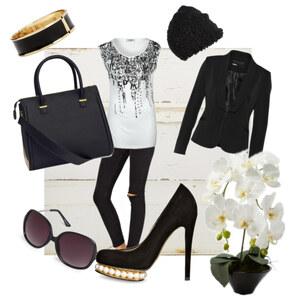 Outfit Black&White von Anna Christina Müller