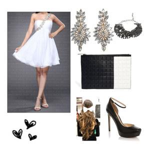 Outfit Blacl'n'White von vika