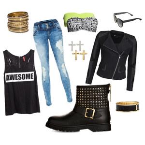Outfit Rock-Chic von Mareike <3