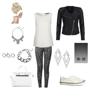 Outfit Black & White.. And Silver von lookfurther