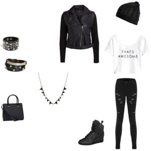 Outfit black& white von Lis styles