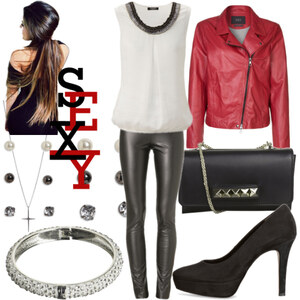 Outfit Leder Outft <3 von Nisa