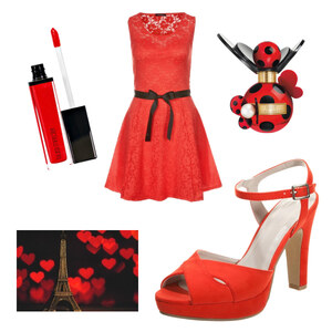 Outfit LOVE ARE  RED COLERS   von Rose22