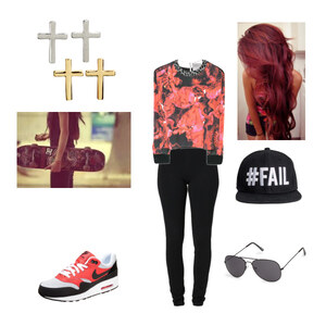 Outfit Red and Black von Bexx