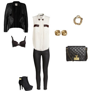 Outfit Black, White, Gold von Mia :D