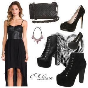 Outfit schick in schwarz von anja.smilyface