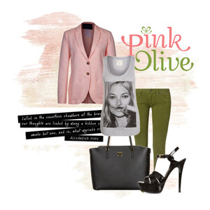 Outfit pink and olive von Markéta