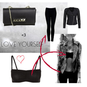 Outfit black and white von Laura