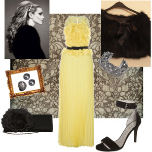 Outfit Yellow night von A.N.N.A