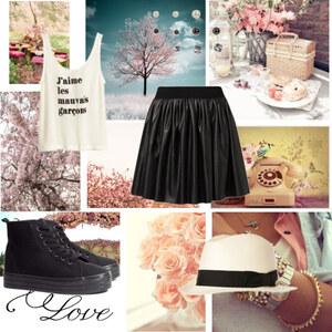 Outfit black and white von Soraya Loch