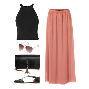 Outfit Maxi Rock von Krista - Fashion Blogger Domodi