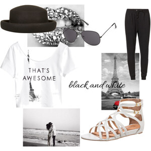 Outfit black and white von Soraya Loch