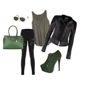 Outfit Rockiges Grün von Resa