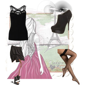 Outfit night in Paris  von Stephanie Constanzia Schröder