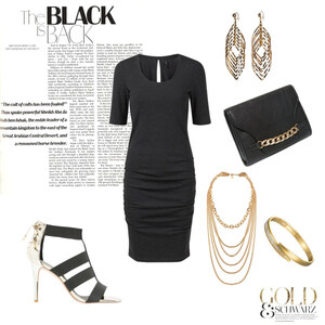 Outfit Black meets Gold von ABOUTYOU
