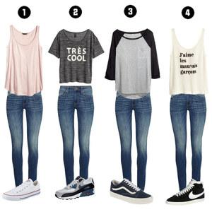 Outfit 1 Jeans, 4 Ways ♥ von leonie_♥