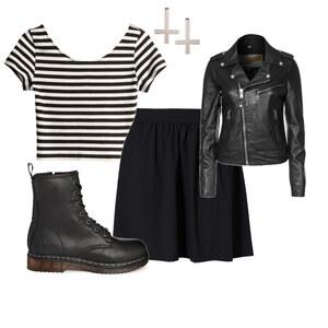 Outfit Black-Grunge von Hannah E. Schneider