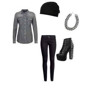 Outfit Silver-Black von Hannah E. Schneider