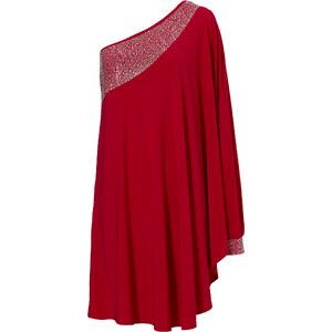 BODYFLIRT boutique Kleid ohne Ärmel in rot von bonprix