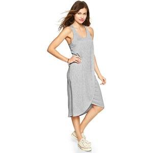 Gap Stripe Tulip Dress - Gray stripe
