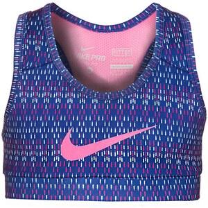 Nike Performance HYPERCOOL GFX PRO SportBH deep royal blue/pink glow