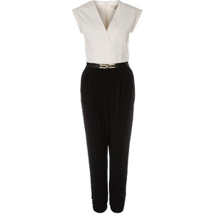 River Island NADINE Jumpsuit white/black
