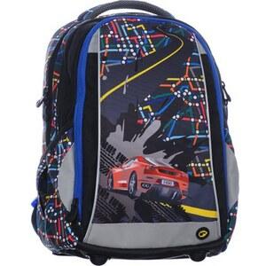 Bagmaster Klučičí školní batoh SCHOOL 0115 B BLACK BLUE CAR - Glami.cz 318ed7e956