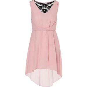 BODYFLIRT Kleid ohne Ärmel figurbetont in rosa (V-Ausschnitt) von bonprix