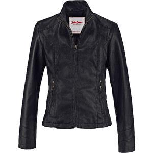 John Baner JEANSWEAR Lederimitat-Jacke langarm in schwarz für Damen von bonprix