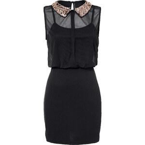 BODYFLIRT Shirtkleid ohne Ärmel figurbetont in schwarz (Rundhals) von bonprix