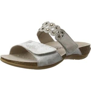 gabor shoes damen comfort offene sandalen mit keilabsatz silber silber 13 37 5 eu. Black Bedroom Furniture Sets. Home Design Ideas
