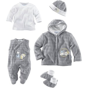 Klitzeklein Shirt, Strampler, Jäckchen, Mütze & Schühchen (Set, 5-tlg.), für Babys