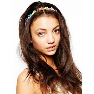 Love Rocks – Elastisches Haarband mit gehäkeltem Blumendesign