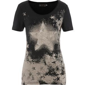 bpc selection T-Shirt, Kurzarm in schwarz für Damen von bonprix