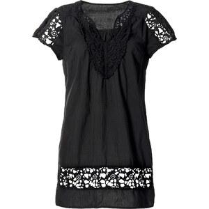 RAINBOW Tunika kurzer Arm in schwarz (V-Ausschnitt) für Damen von bonprix