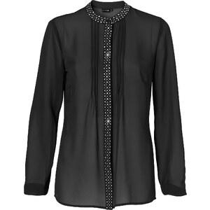 BODYFLIRT Bluse langarm figurumspielend in schwarz von bonprix