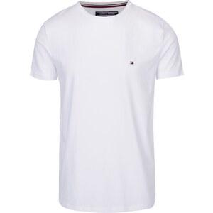 375e551927 Biele pánske basic tričko s krátkym rukávom Tommy Hilfiger New Stretch -  Glami.sk