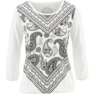 John Baner JEANSWEAR Shirt bedruckt,3/4-Arm in weiß für Damen von bonprix