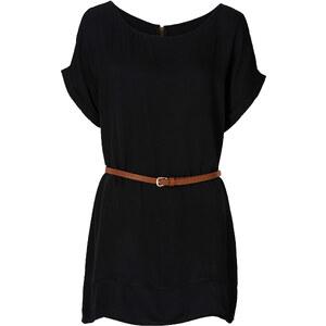RAINBOW Long-Tunika kurzer Arm in schwarz für Damen von bonprix